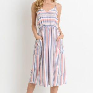 Dresses & Skirts - Pastel striped Midi Dress!